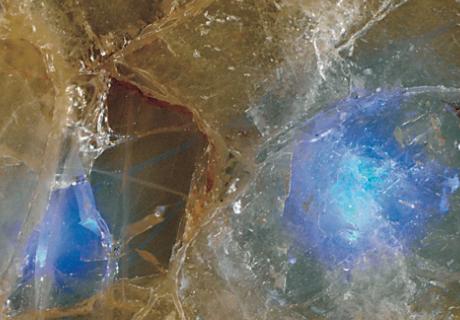 Fiber Optic Quartz Blue Precioustone