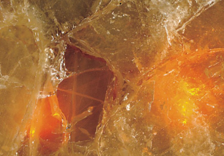 Fiber Optic Quartz Orange Precioustone