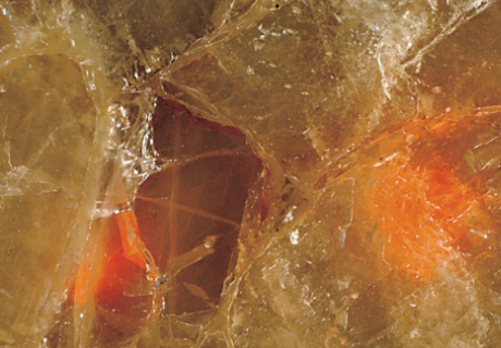 Fiber Optic Quartz Red Precioustone